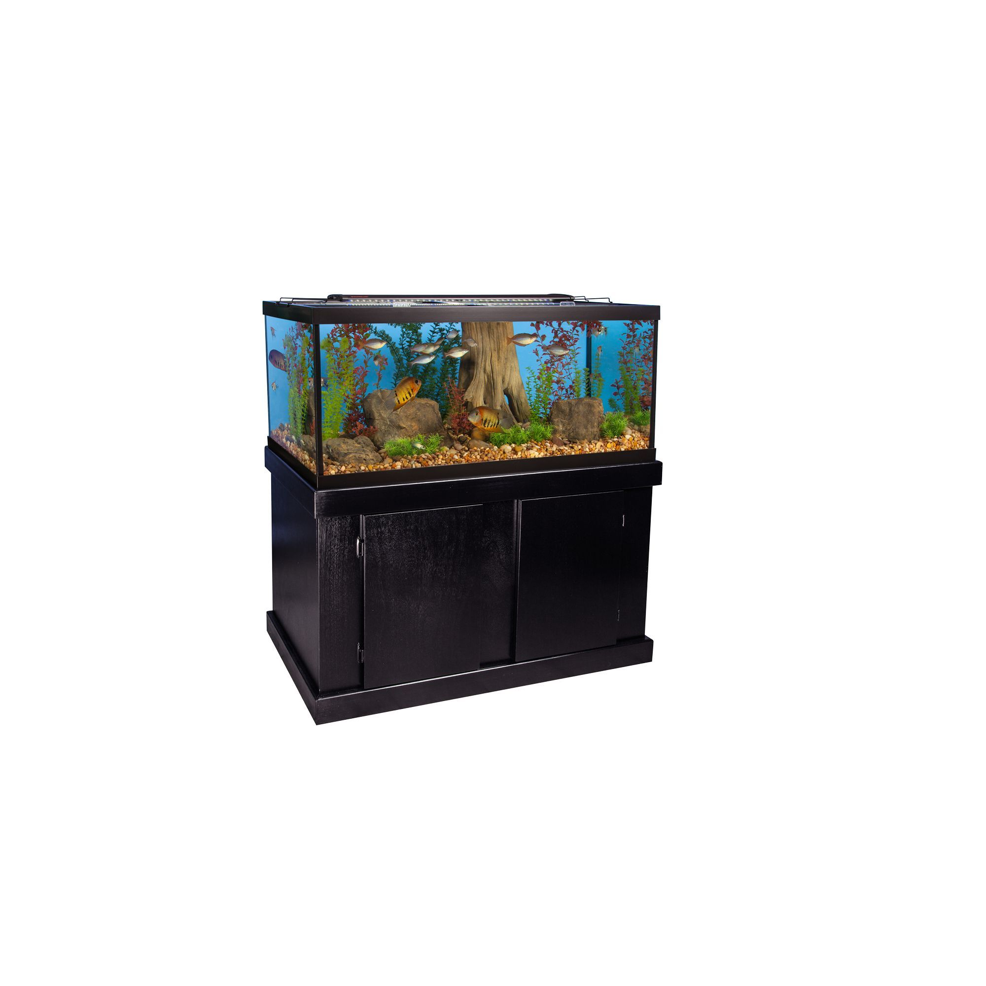Marineland 75 Gallon Aquarium Majesty Ensemble Size Gal Black