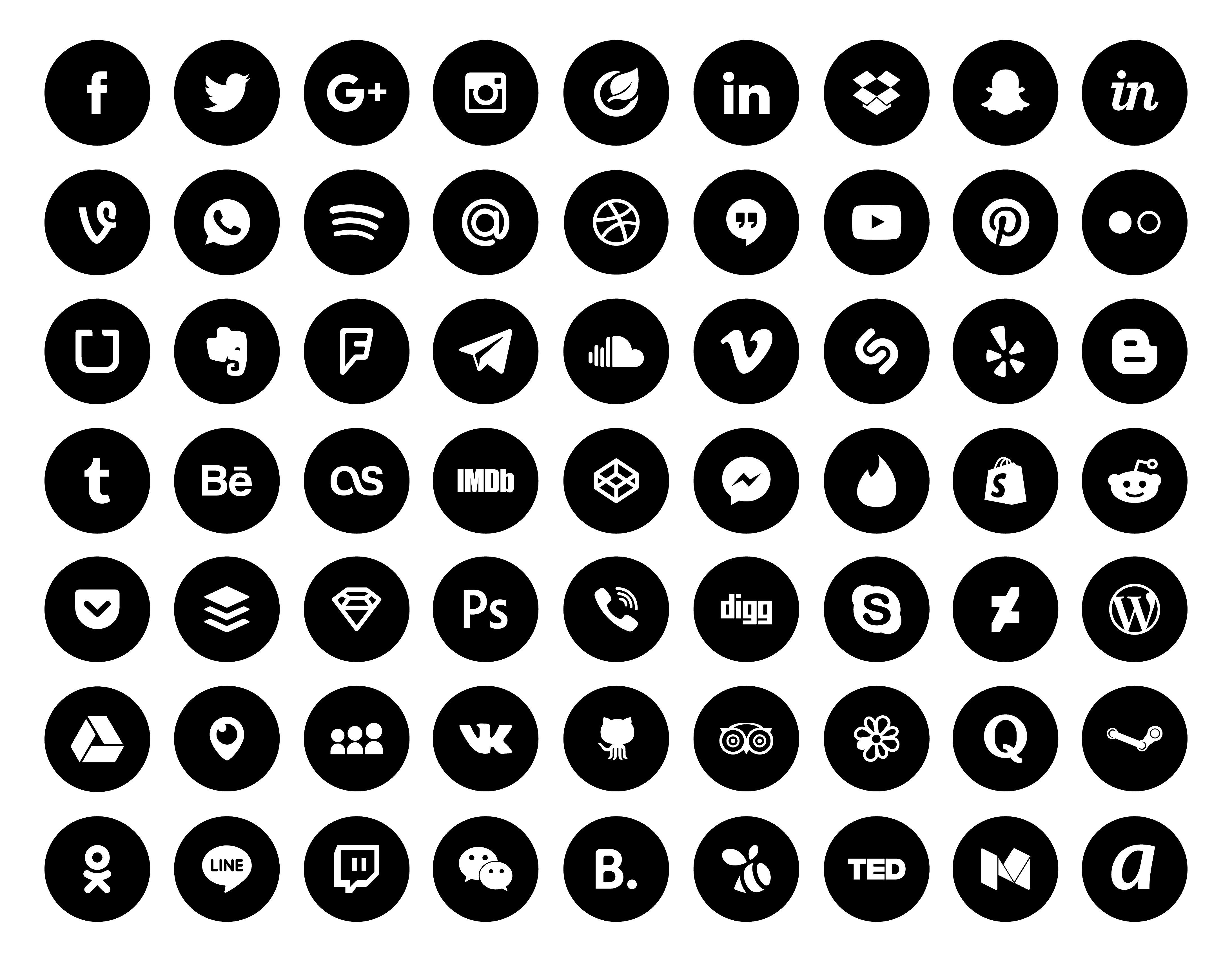 Aesthetic Black Ios 14 App Icons Pack 108 Icons 1 Color Etsy Black App App Icon App Store Icon