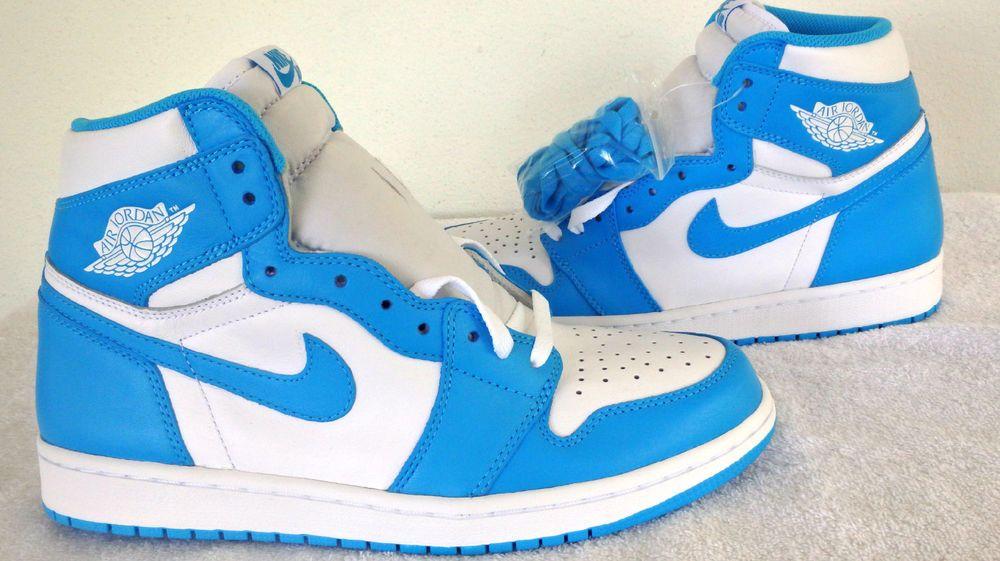 Nike Air Jordan Unc 1 Retro I High Og Powder Blue White New Men