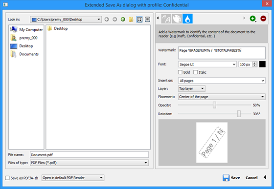 Add A Digital Text Watermark With Page Numbers To A Document Using Pdf Impress Digital Text Ads Digital Signing