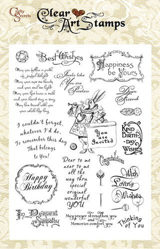 Card Sentiments  Clear Art Stamp picture