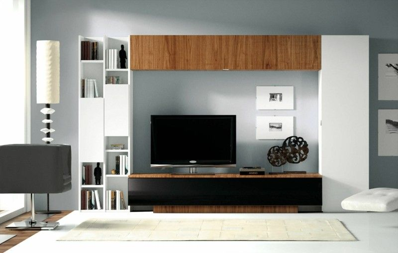 TV wall modern Wall shelves | sofa | Pinterest | Tv walls, Modern ...