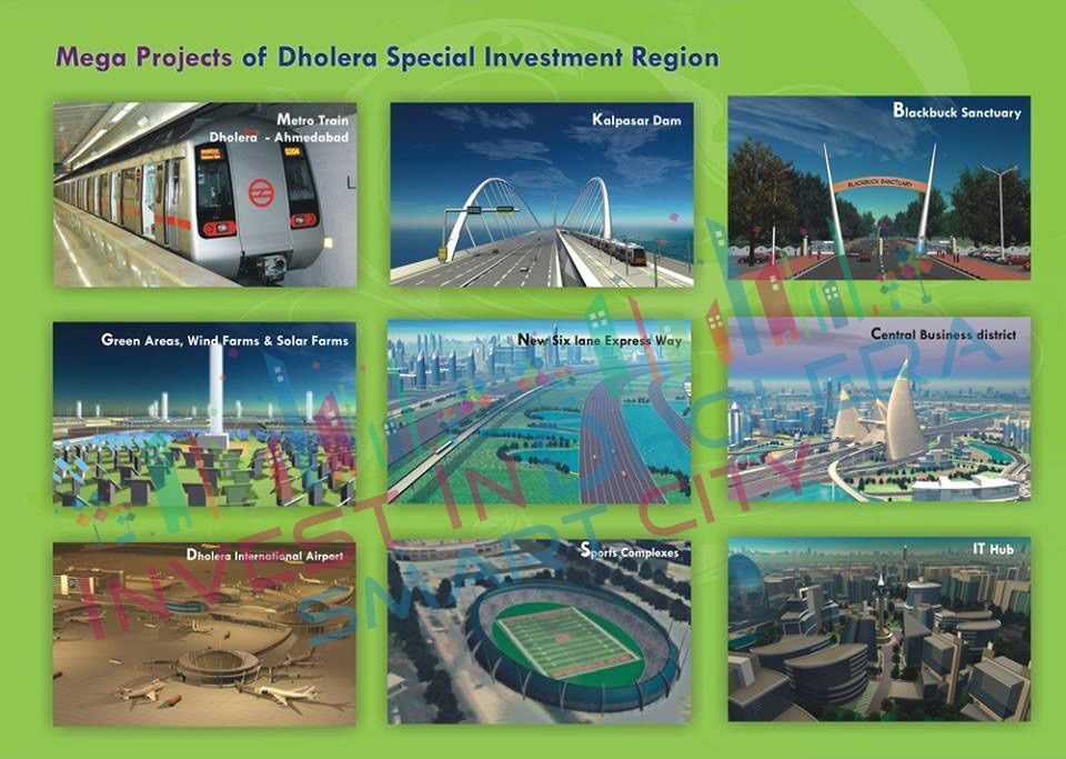 Mega projects of Dholera Special Investment Region