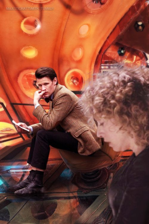 That moment when the Doctor realizes what River did for him. They were her parents, but she got him back into the TARDIS safely and got them out of there. Such a beautiful moment...: