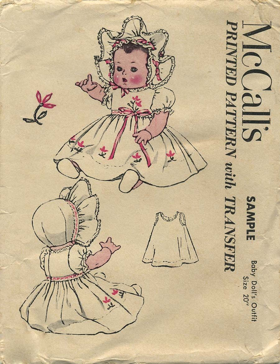 455 Vintage Topsy Turvy Doll Sewing Pattern Mail Order 14 inches Newspaper