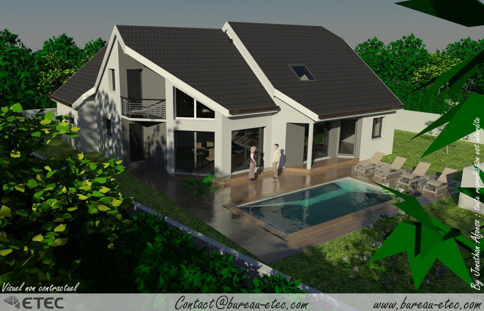 Maison Contemporaine Saulon - ETEC | maison | Pinterest