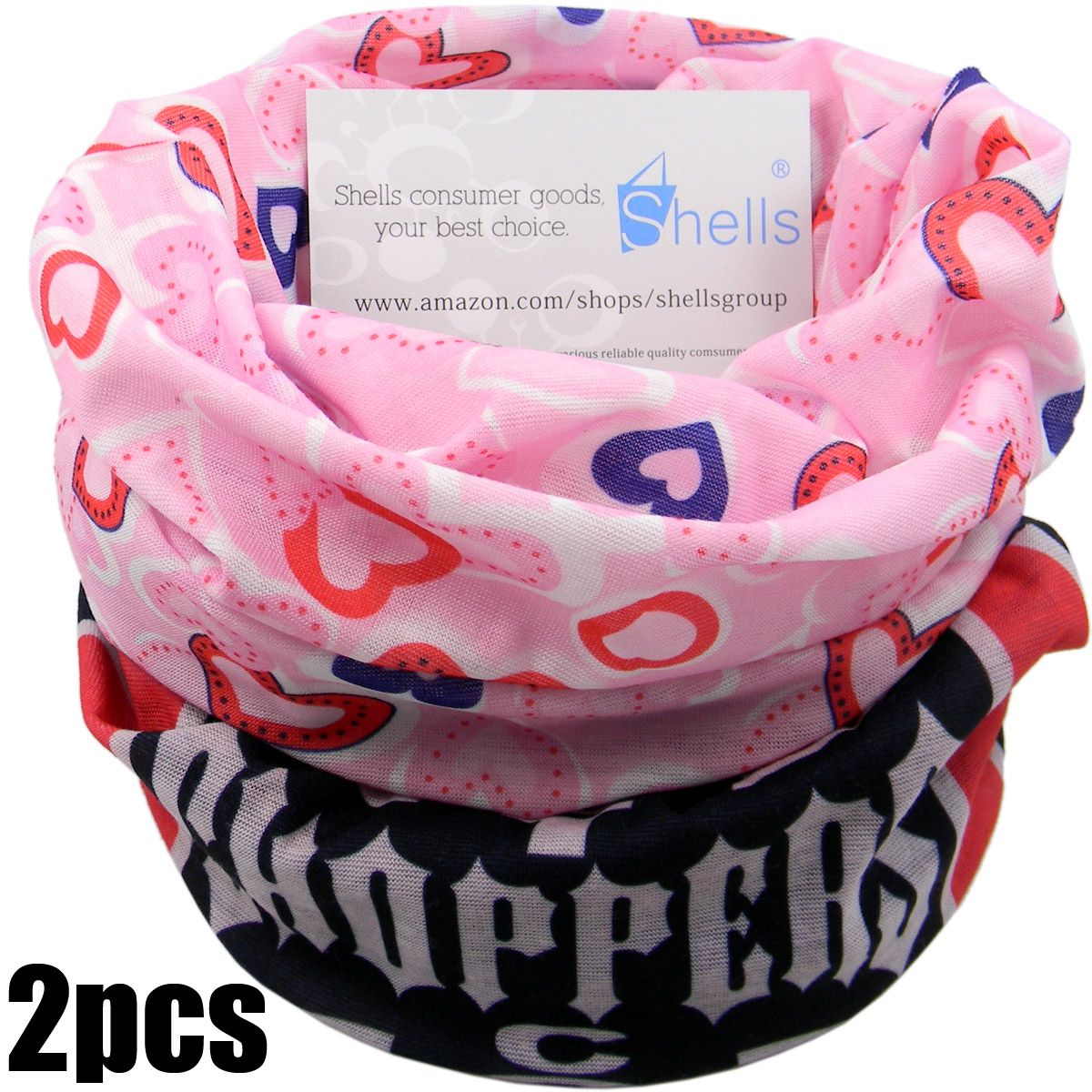 Blask Choppers Pattern Pink Lover Pattern Polyester Microfiber Outdoor Sport Magic Multifunction No Seam Headscarf Headwear Face Mask Neck Warmer For Motorcycle Bike Ski Outdoor activities