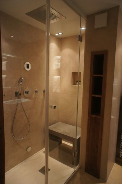 small steam shower with Mr.Steam iTempo Plus control | Bathroom/Home ...