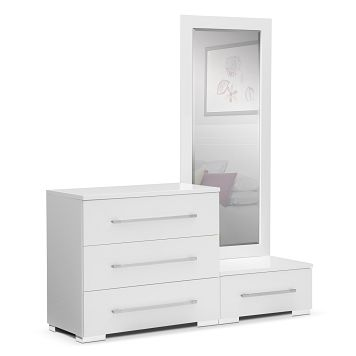 Dimora White Bedroom Dressing Dresser Value City Furniture