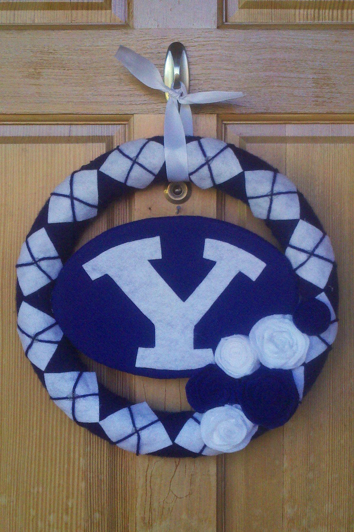 BYU wreath made out of felt/yarn How to make wreaths