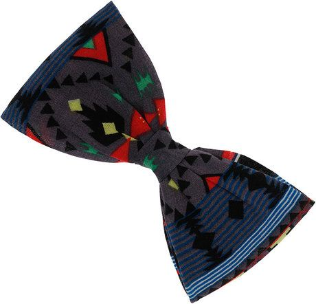 Topman Red Navajo Fabric Bow Tie lyst.com