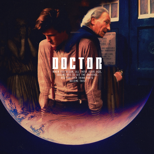 """Sometimes I think a Time Lord lives too long."" :("