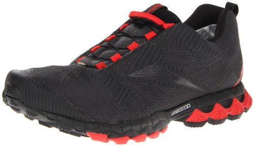 Reebok Men S Premier Reetrek Iii Gtx Walking Shoe Black Cyclone Grey Techy Red Shoes Mens Mens Fashion Reebok Shoes