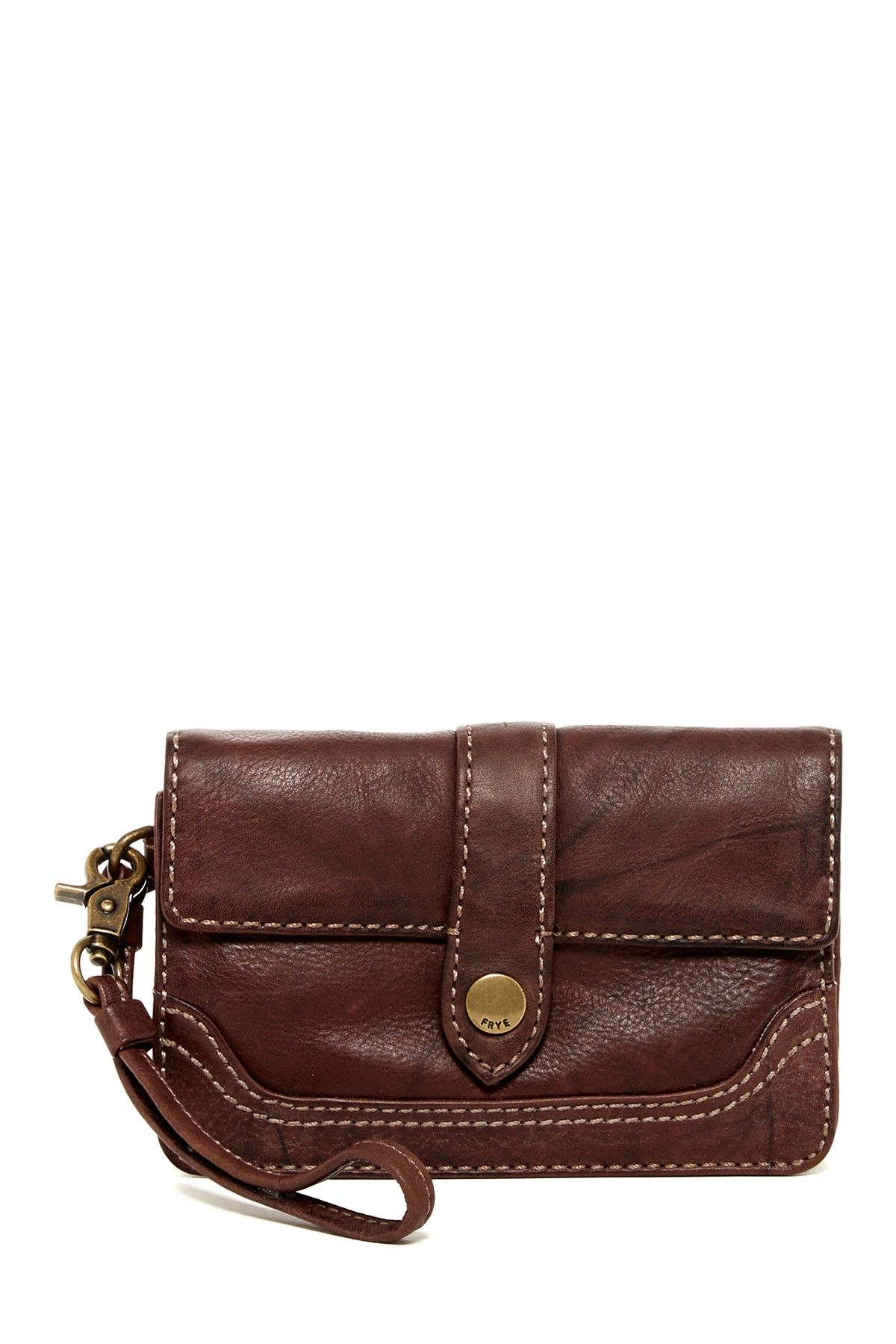 Frye Campus Leather Wristlet College bags, What's in