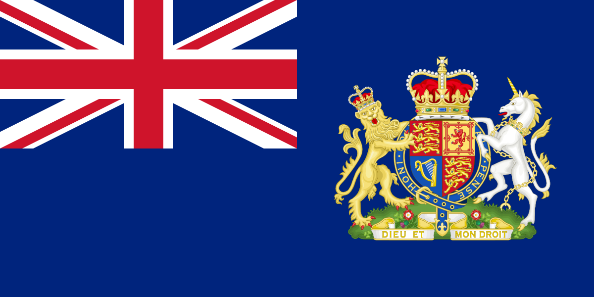 Blue Ensign of the British Diplomatic Service. British
