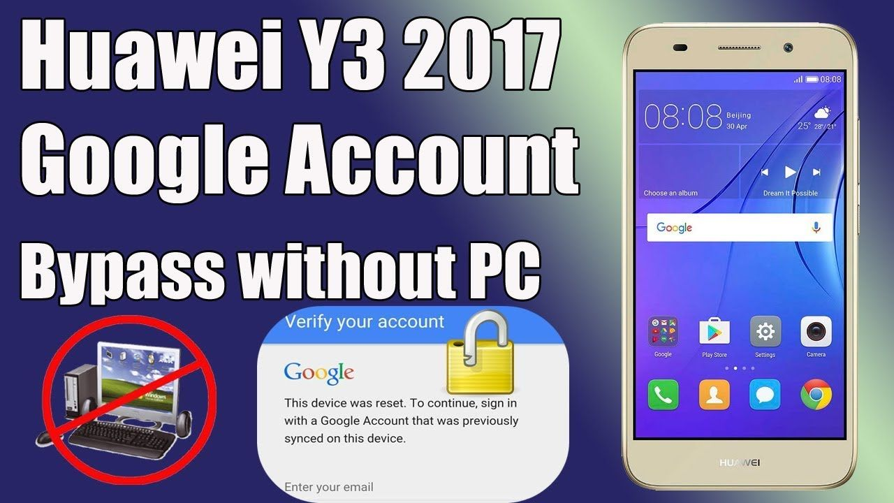 Remove Google Account Huawei Y3 CRO-U00 FRP Unlock Without PC