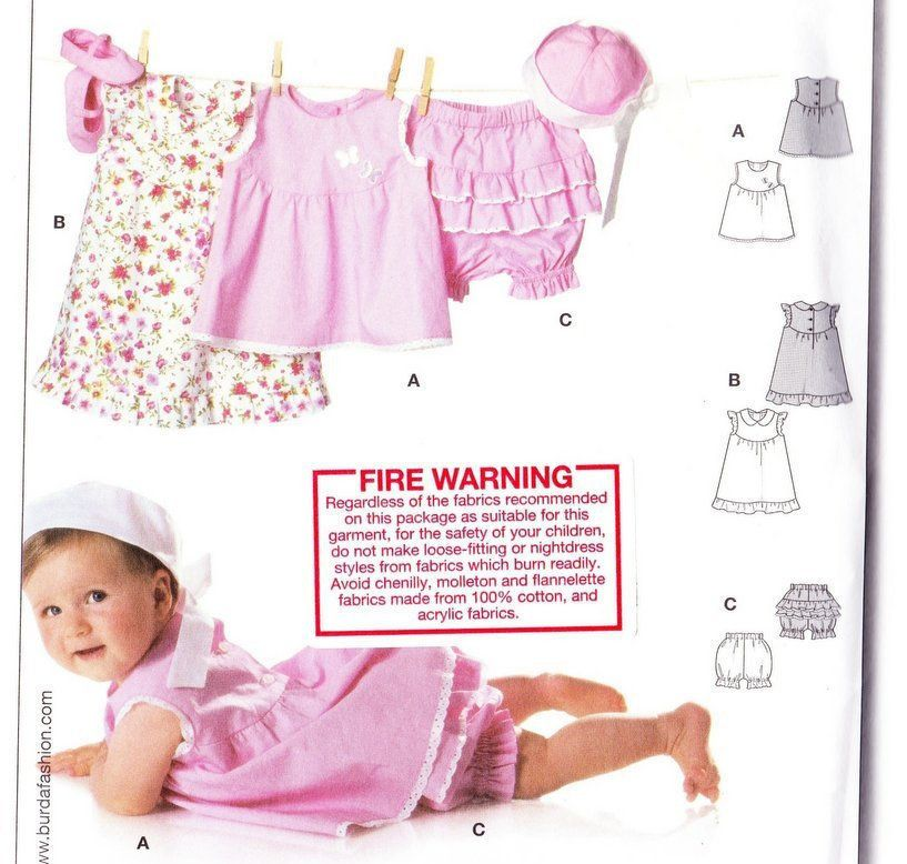Sewing Pattern Baby Summer Dress Baby Girl Clothes Summer Top for ...