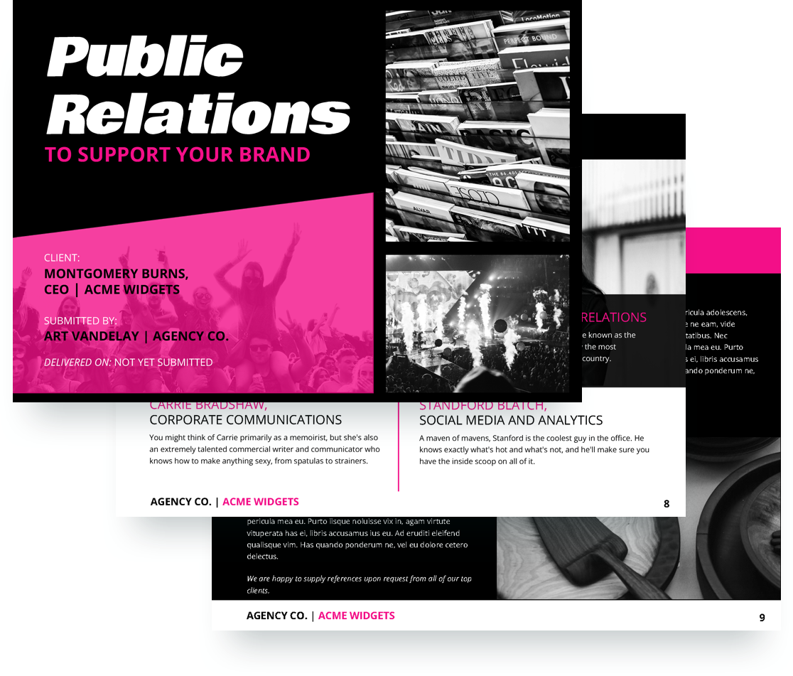 Public Relations Proposal Template Public Relations Consultants