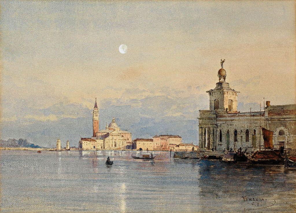 Johann Gottfried Steffan German 1815 1905 Venice View Of The