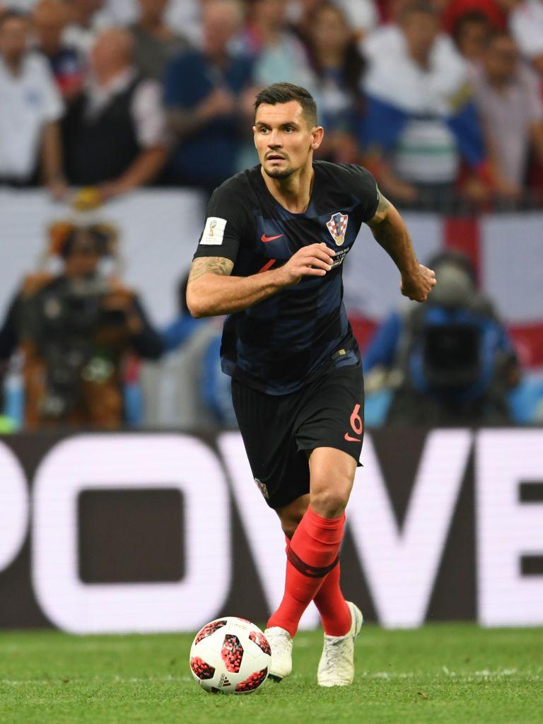 Dejan Lovren Of Croatia In Action During The 2018 Fifa World Cup Dejan Lovren Fifa Croatia