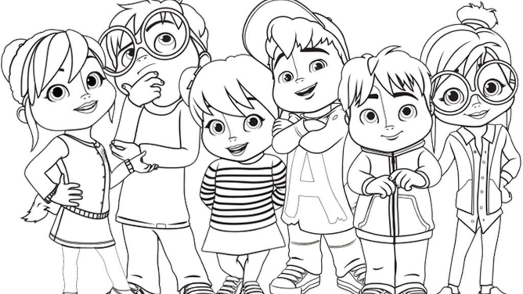 Related Image Cool Coloring Pages Alvin And The Chipmunks Chipmunks