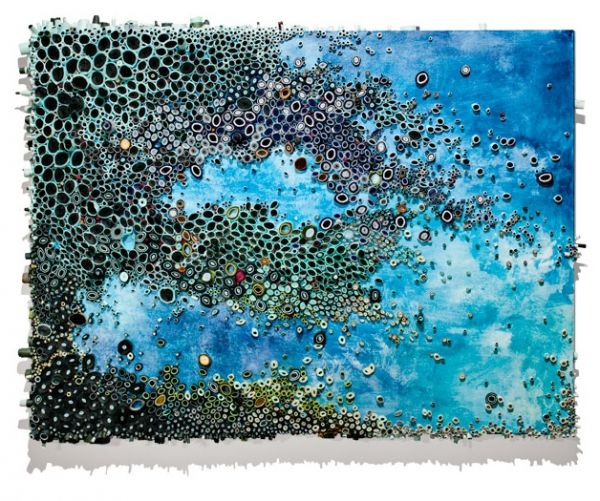 Paper Reefs by Amy Eisenfeld Genser sculpture paper painting nature