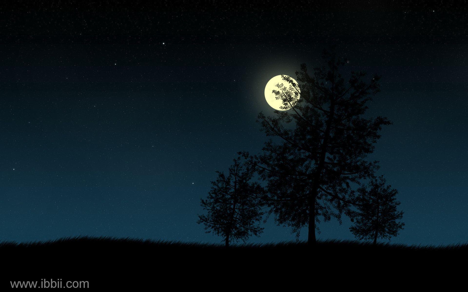 Nature Beautiful Night Nature Wallpaper Beautiful Nature Dark Moon