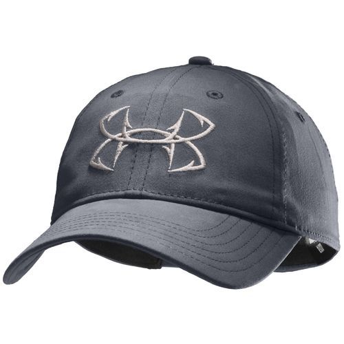 Under armour mens hook logo fishing cap hats for Under armour fish hook