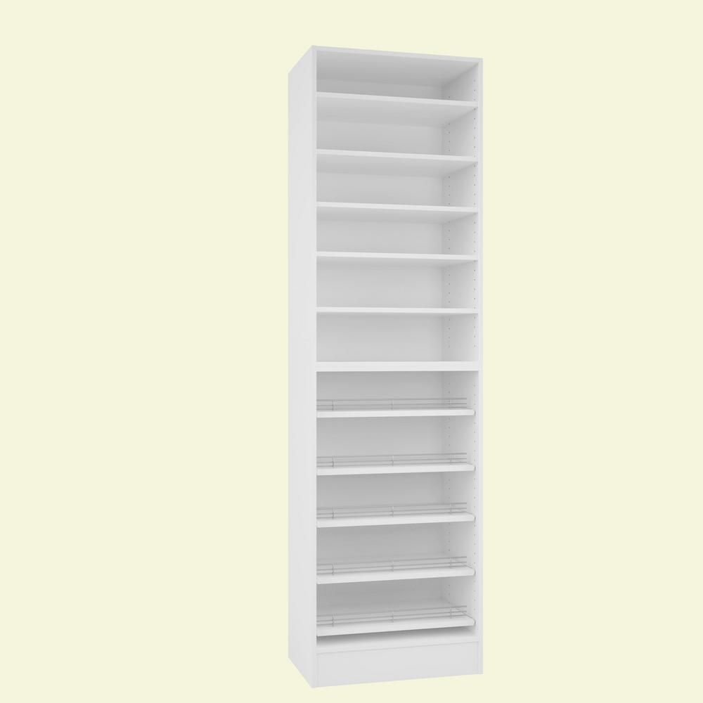 Shoe Closet Shelves Rack Organizer Storage Martha Stewart Living Angle 3 Pack