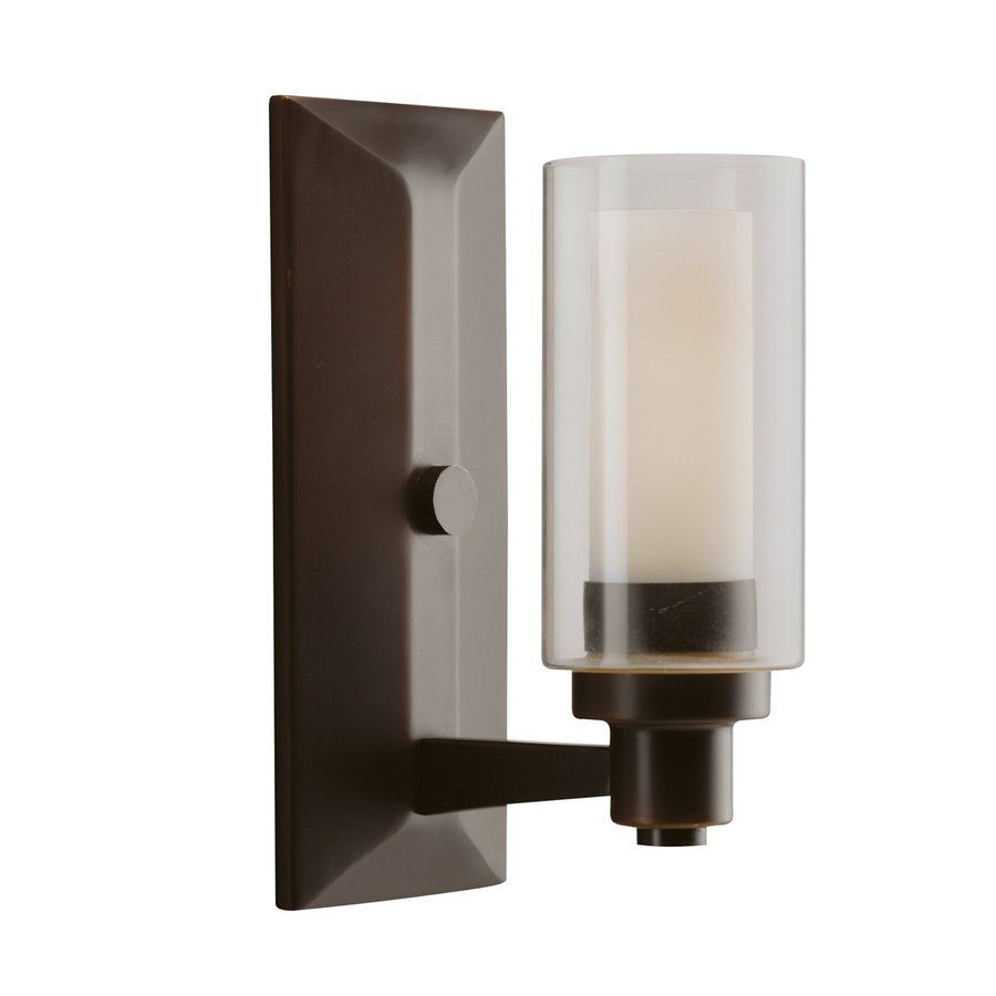 Kichler Lighting 1-Light Circolo Olde Bronze Modern Vanity Light