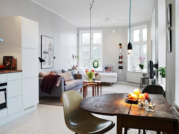 10 Small One Room Apartments Featuring A Scandinavian Decor