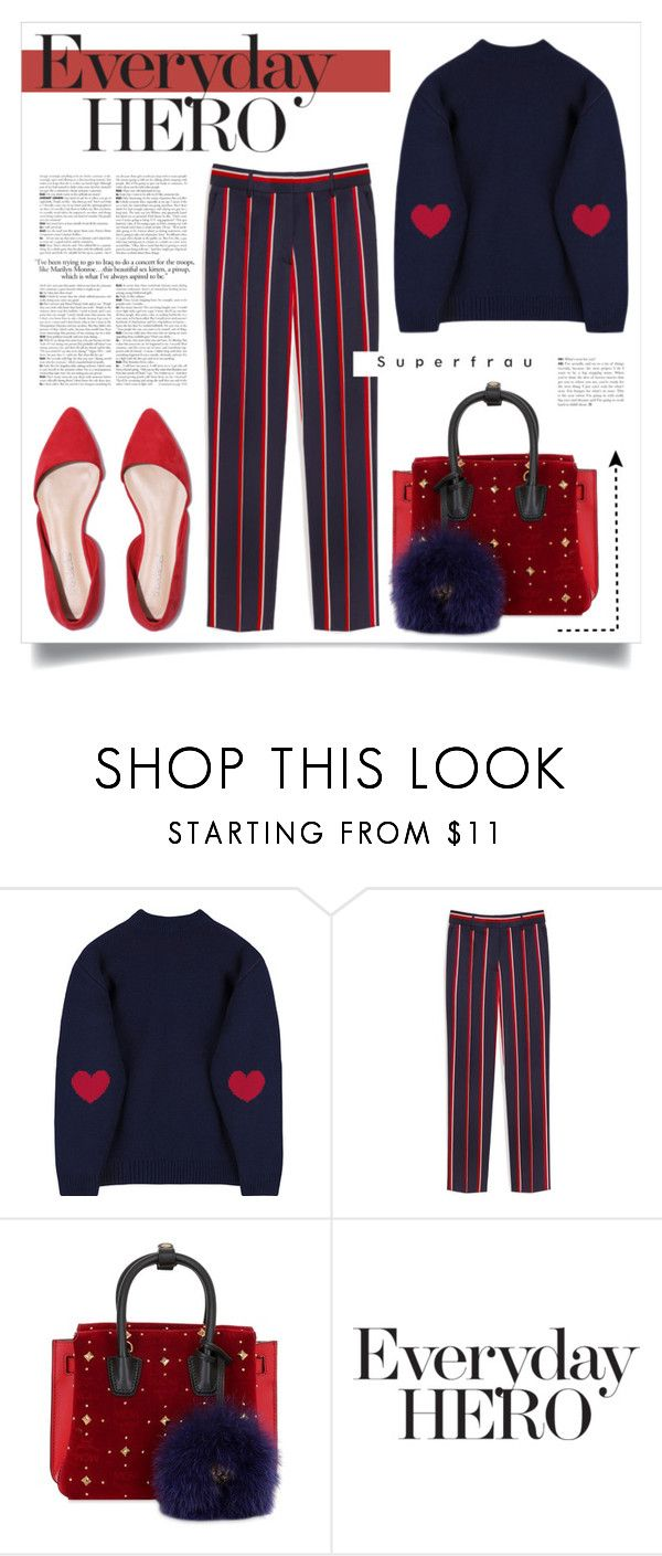 """EVERYDAY HERO"" by virgamaleva ❤ liked on Polyvore featuring Mulberry, MCM and Andrea"