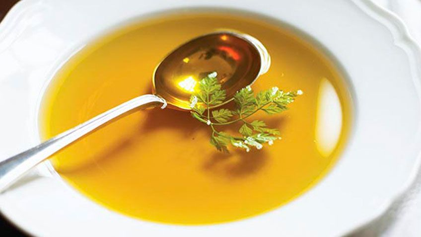 Chicken consomme french clear soup recipe consomme