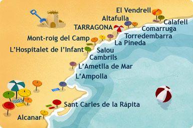 Costa De Barcelona Mapa.Pin By Alfred Munoz On Catalunya In 2019 Salou Spain