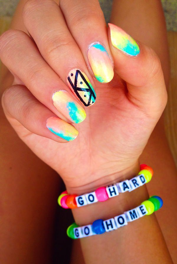 top 30 amazing neon nail designs for 2018 | Pinterest | Neon nail ...