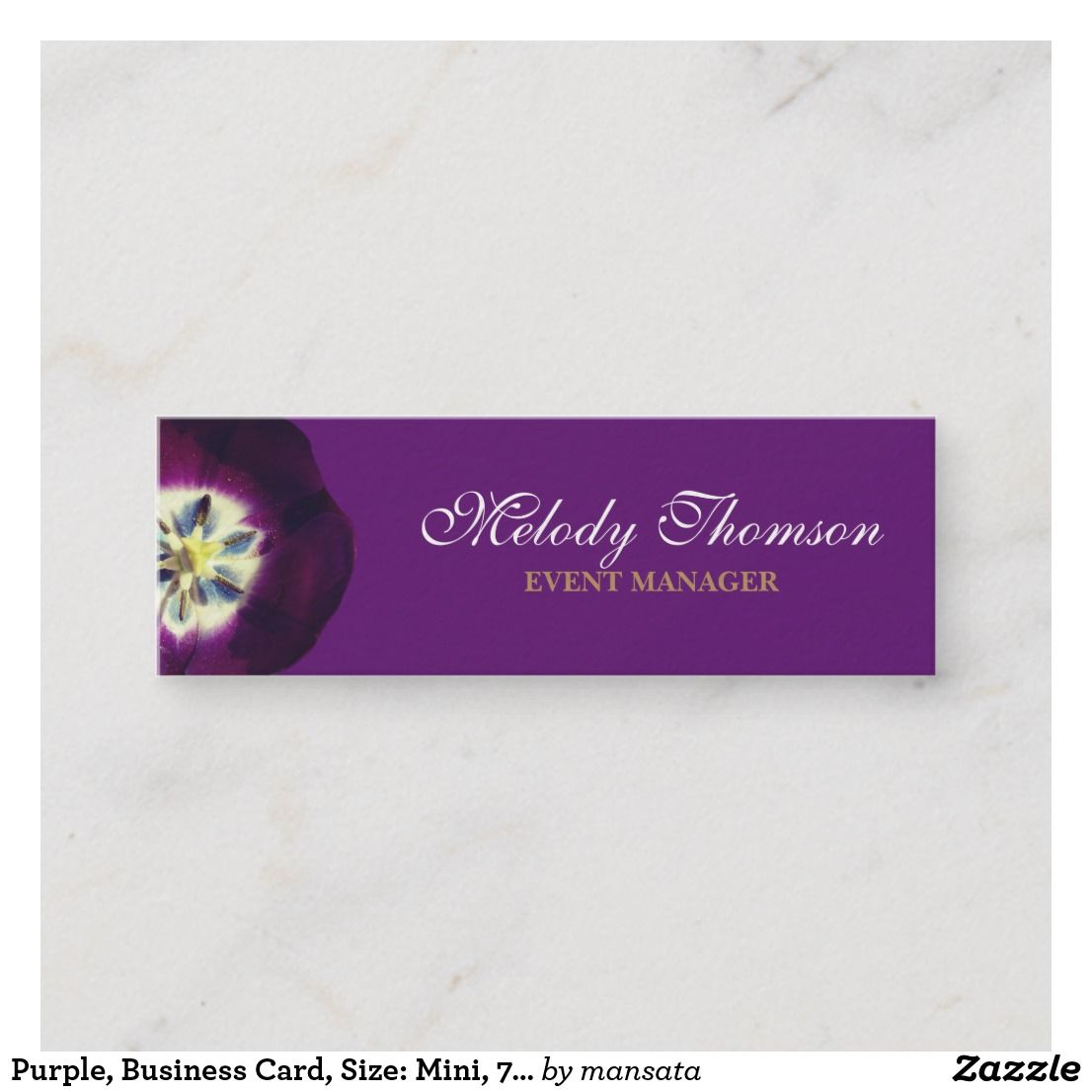 Purple Business Card Size Mini 7 6 Cm X 2 5 Cm Mini Business