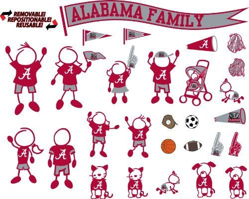 NCAA Alabama Crimson Tide Decal Family by Stockdale, http://www.amazon
