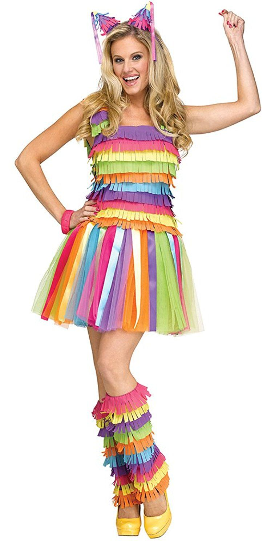 amazon: party pinata costume adult women small/medium: clothing