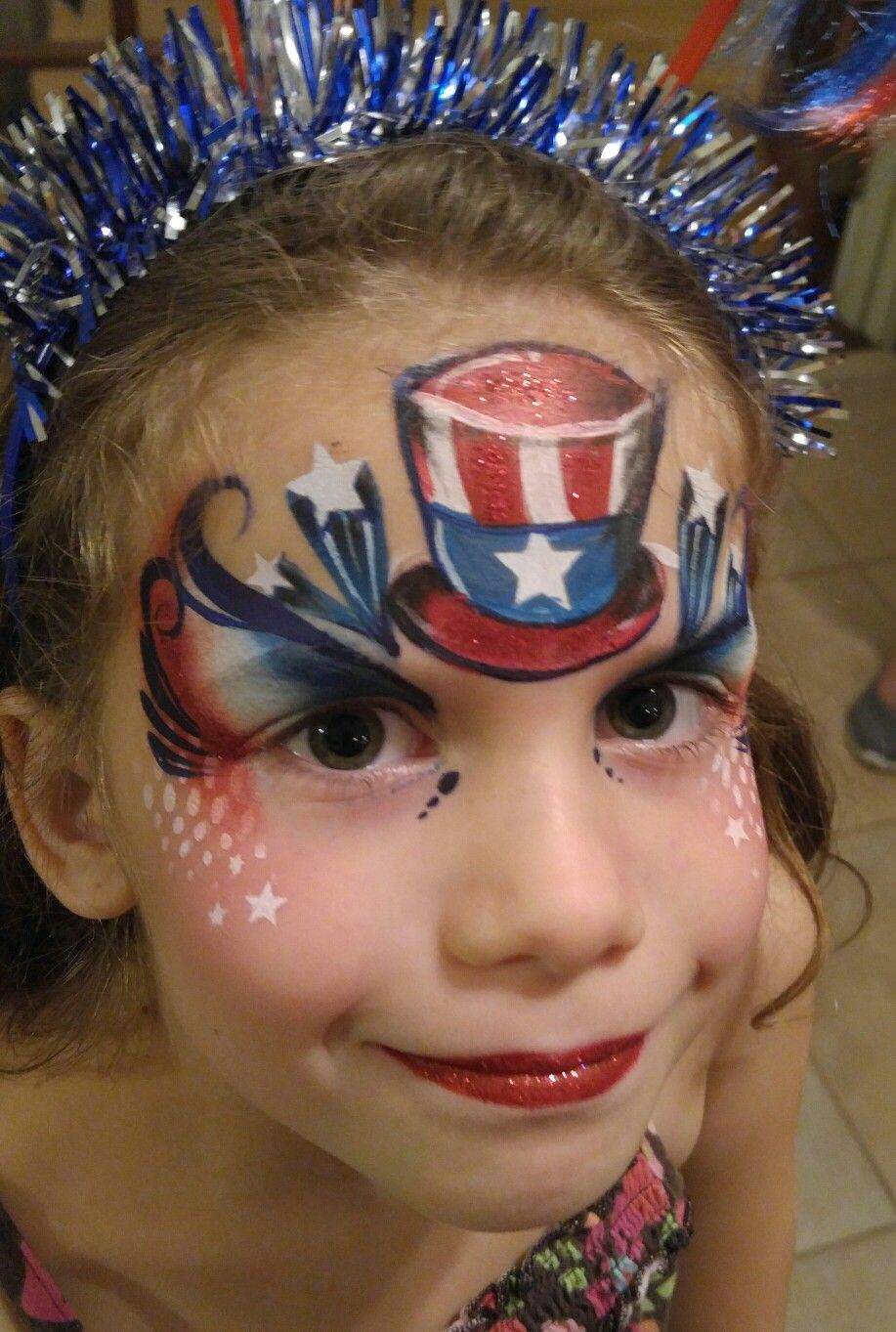 City of Ocoee Face painting designs, Face, 4th of july