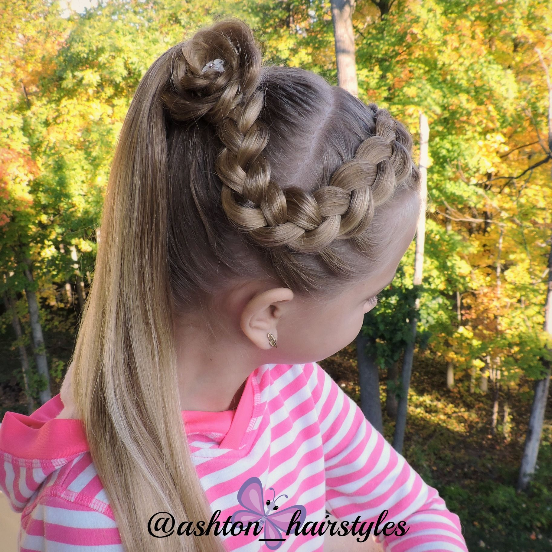 Cute school day style inspired by cutehairbraid from instagram