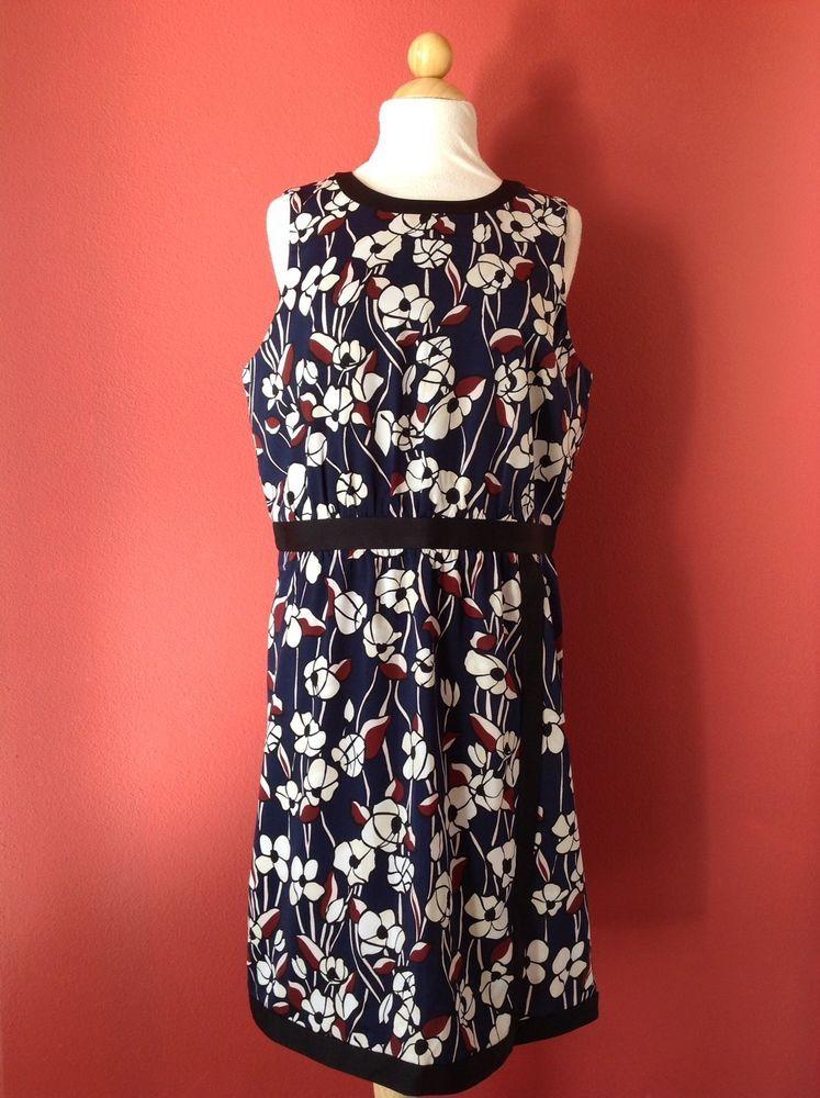 ecadeb72015 ANN TAYLOR Blue Red Floral Faux Wrap Dress Size 12P 12 PETITE NEW   ANNTAYLOR  Sheath  Cocktail