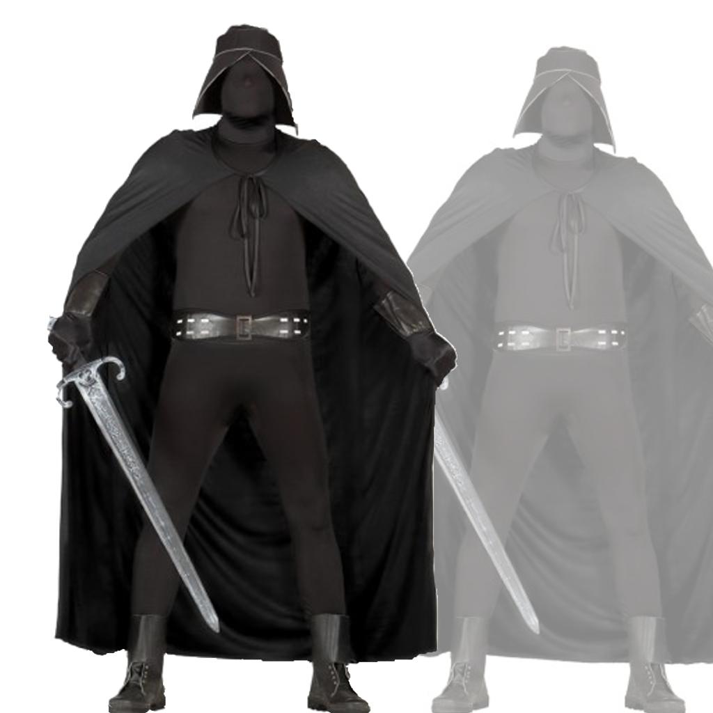 Disfraz de caballero negro.  Si te gusto Star Wars este es tu disfraz.  Mercadisfraces te lo envía en 24 horas.