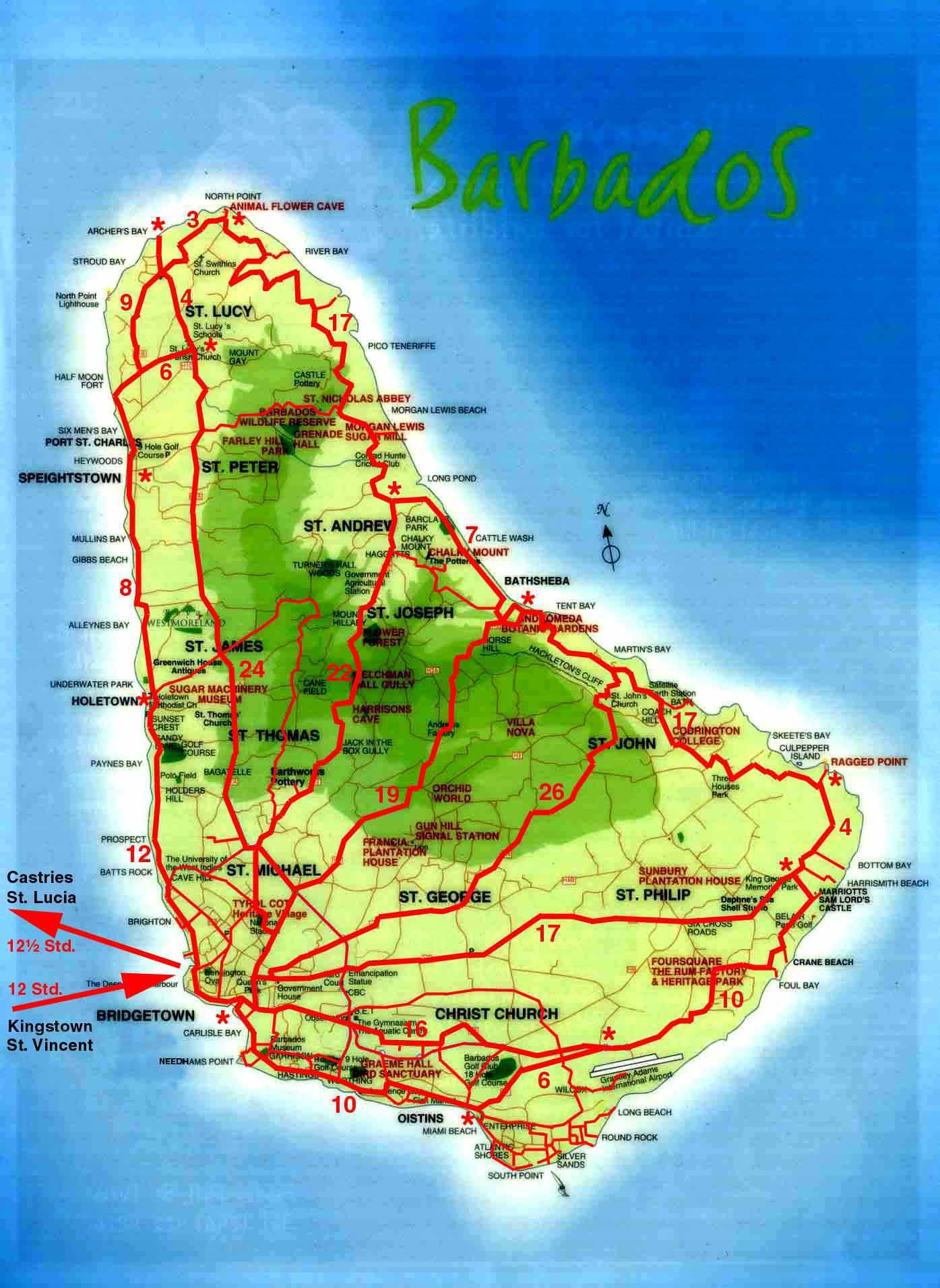 barbados maps topographical map of Barbados Barbados detailed