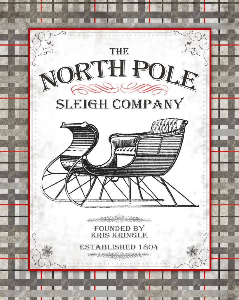 Shabby Rustic Deer Holiday Furniture DIY North Pole Vintage Christmas Stencil