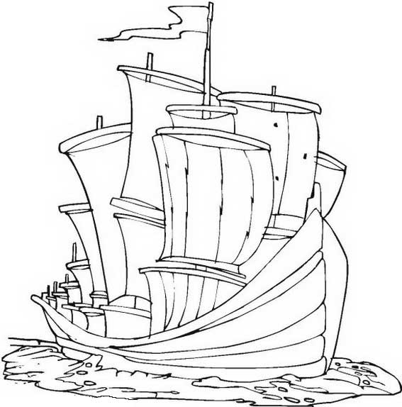 Columbus Big Fleet On Columbus Day Coloring Page Netart In 2020 Earth Day Coloring Pages Coloring Pages Planet Coloring Pages