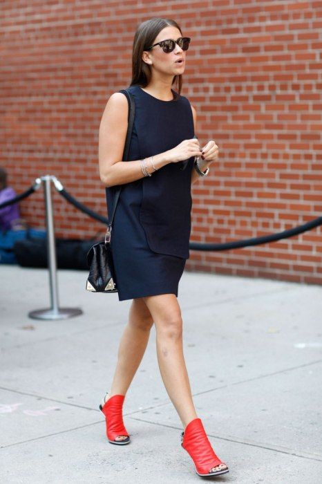 LBD + Red Shoes