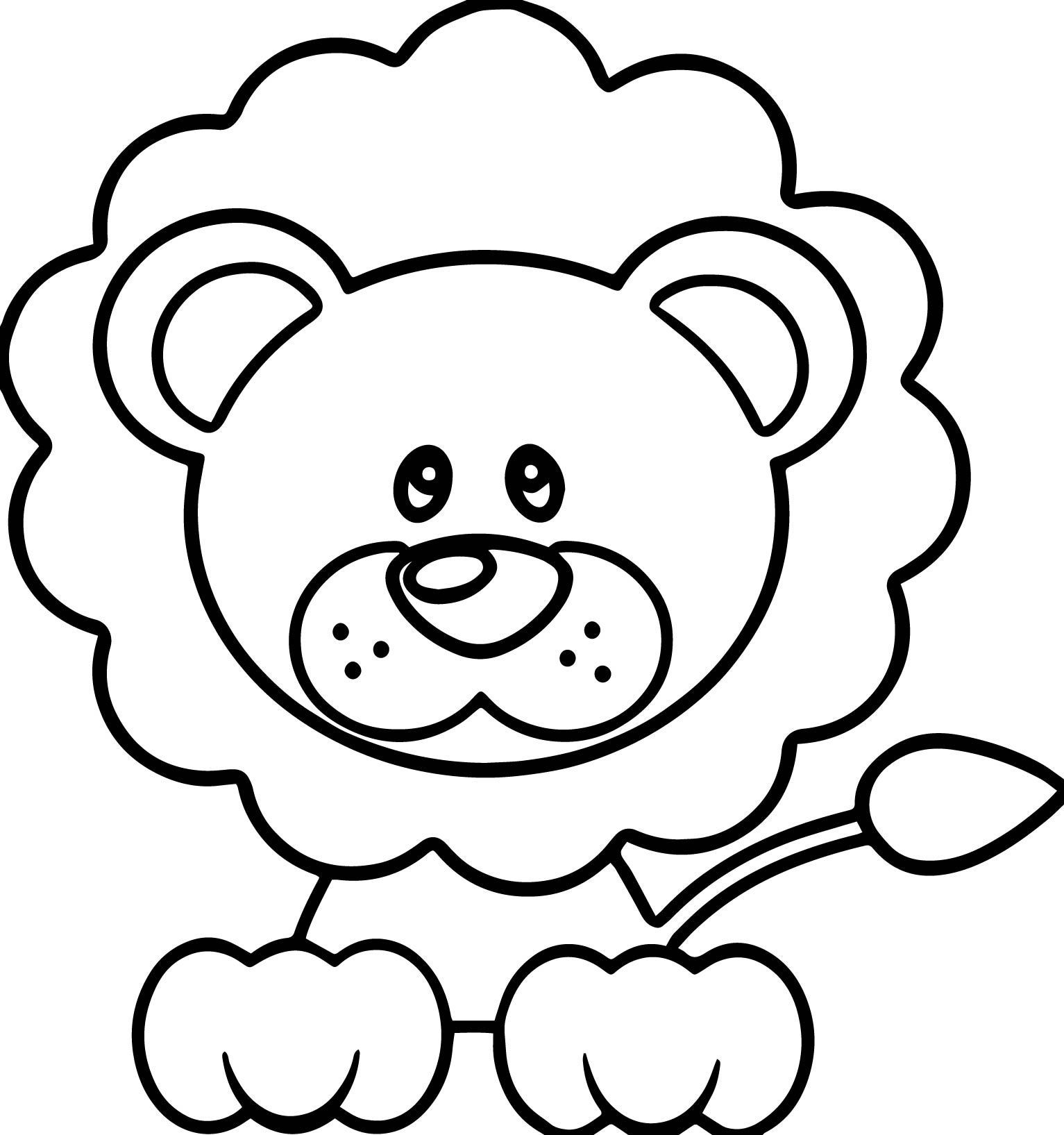 Cool Calm Lion Coloring Page