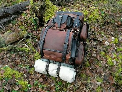Handmade Leather Travel Bushcraft Pack By Deepwood Handcraft Bushcraft Leather Handmade Leather Travel