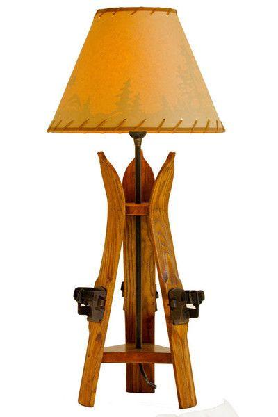 Ski Pole' Table Lamp | Rustic Furniture Mall by Timber Creek