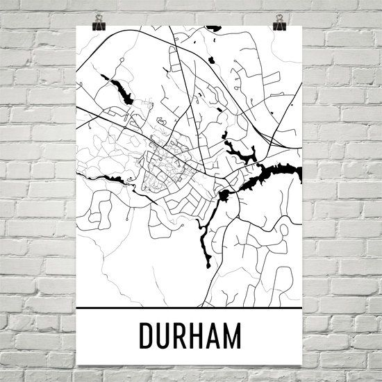 Durham Map Art Print Durham Nh Art Poster Durham Wall Art Durham
